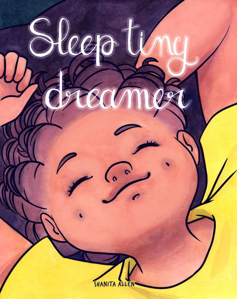 Children book illustration sleep tiny dreamer