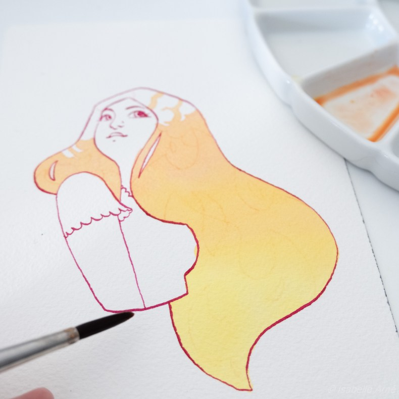 watercolor illustration illustrator isabelle arne