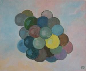 "oil on canvas ""étude bleue"""