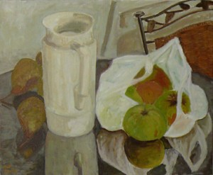"oil on canvas ""dans la cuisine"""