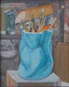 """oil on canvas """"dans l'atelier"""""""
