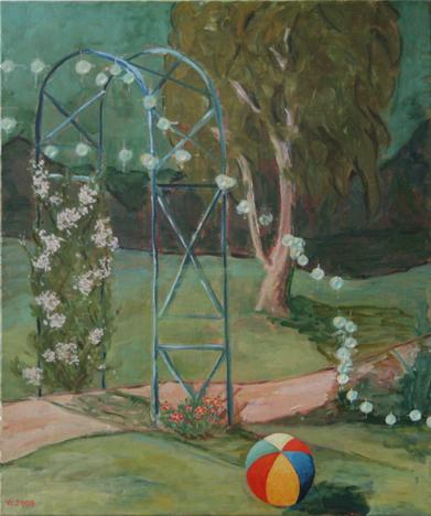 """oil on canvas """"dans le jardin"""""""