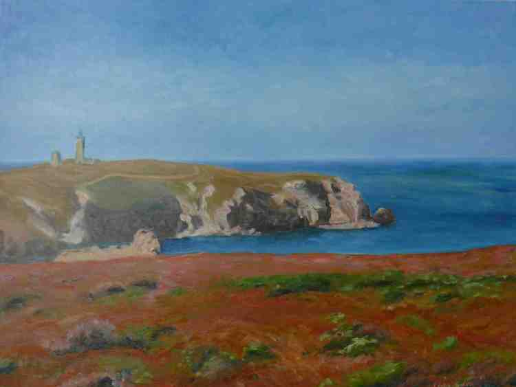 "oil on canvas ""la lande et le cap"""
