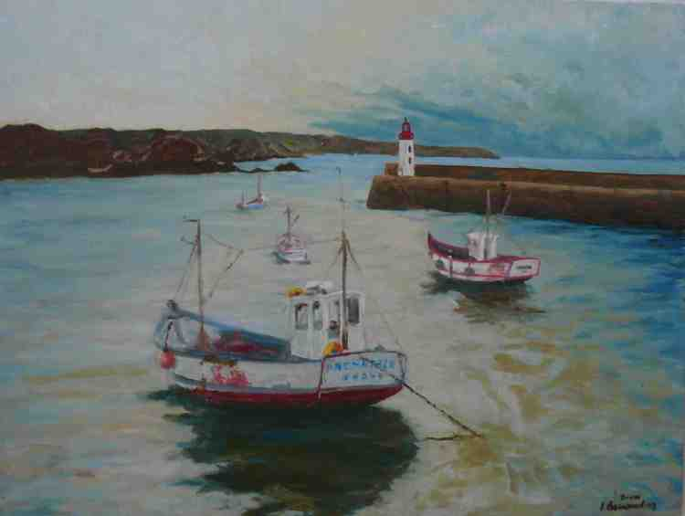 "oil on canvas ""le port d'Erquy"""