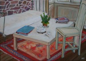 """oil on canvas """"le thé"""""""