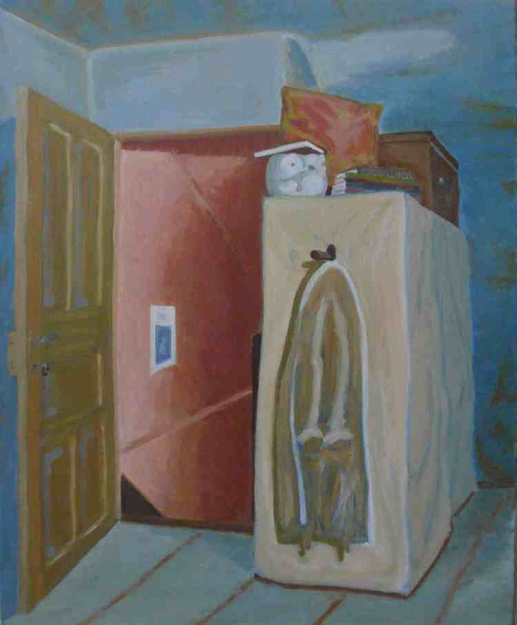 "oil on canvas ""souvenir de la clepsydre"""
