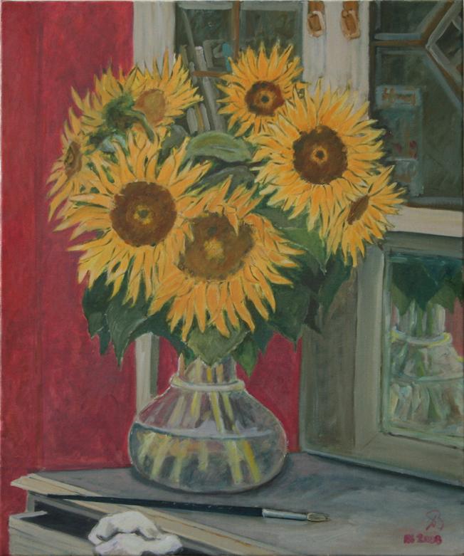 """oil on canvas """"les tournesols"""""""