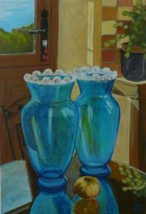 """oil on canvas """"les deux vases de la chambre 2"""""""