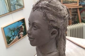 portrait en argile tutoriel