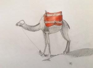 dessiner, esquisser, crayonner, croquer, tracer, ébaucher, souligner, peindre, gribouiller, griffonner un chameau