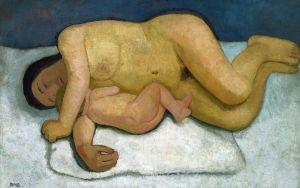 autoportrait femme et enfant nus, Paula M Becker