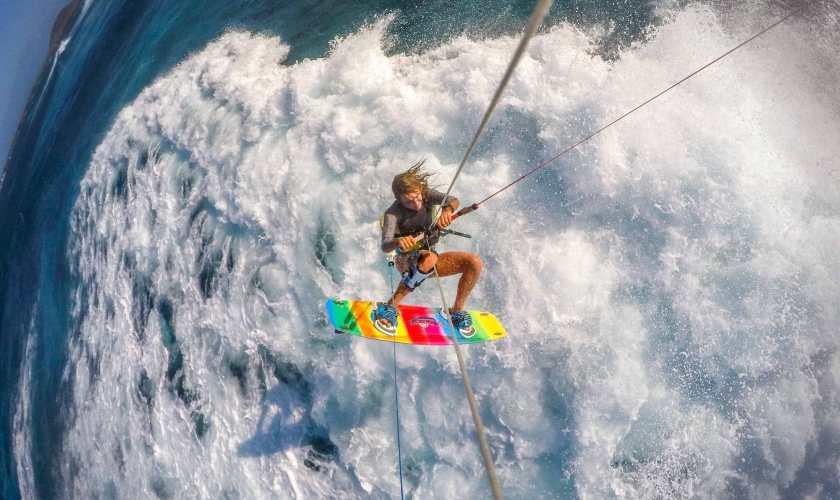 kitesurf vagues