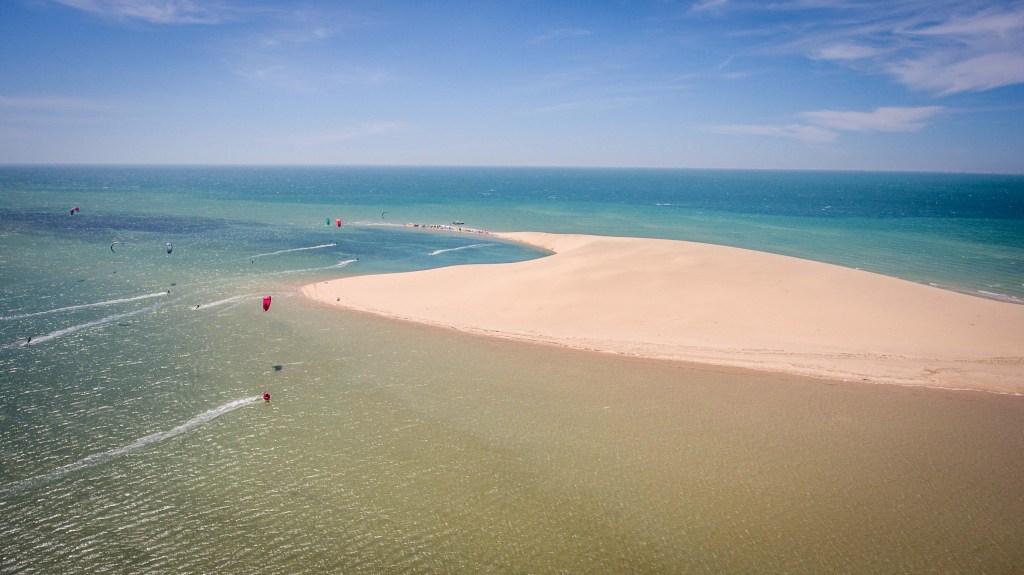 lagune kitesurf dakhla maroc dune blanche