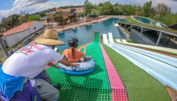 Toboggan argeles sur mer Drop in water jump