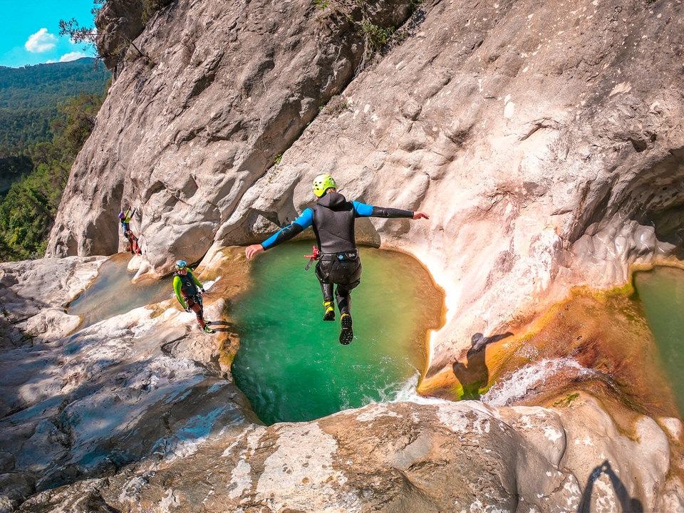 canyoning côte d'azur