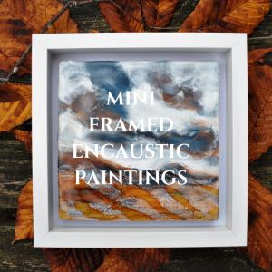 Mini Framed Encaustic Paintings