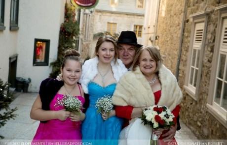Quebec winter intimate wedding