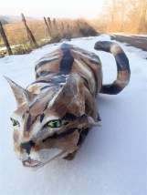 chat tigré en papier