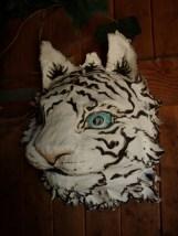 tigre blanc en applique