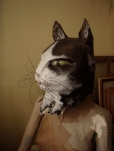 chat N/B aux moustaches