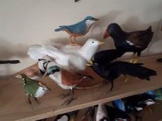 série d'oiseaux en papier