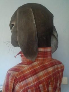 petit buste de lapin , adaptable sur mannequin sans tête