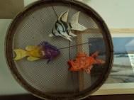 3 poissons papier de soie