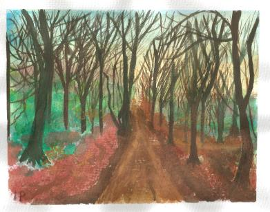 Into the woods - Watercolour