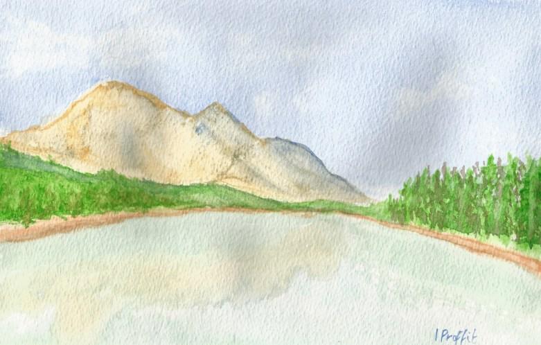 landscape string lake