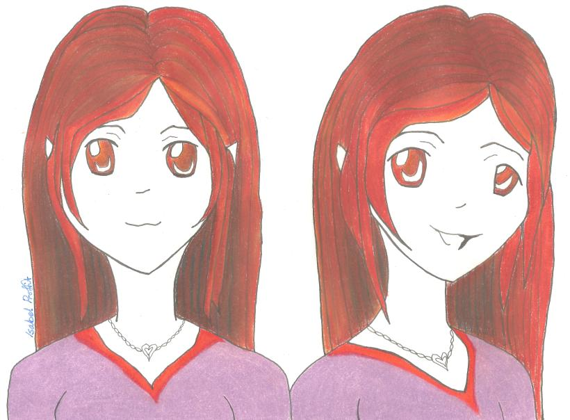 two expressions girls