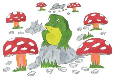 Happy frog picture with markers