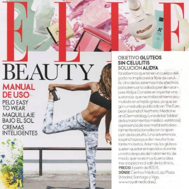 Alidya en la revista Elle España para tratar la celulitis