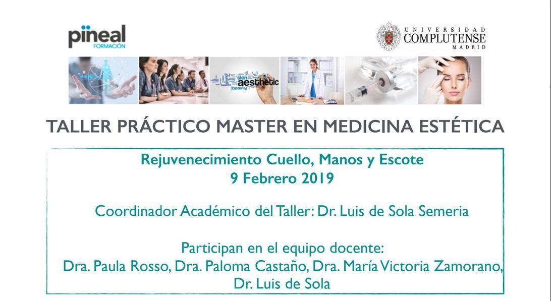 Nueva Jornada de Colaboración con el Máster en Medicina Estética y Antienvejecimiento de la Universidad Complutense de Madrid.
