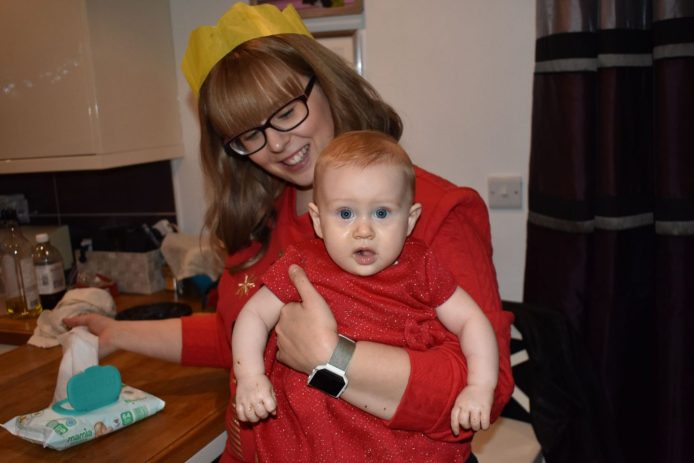 Photos of the Mother of our baby - Rachel and Isabelle at Christmas