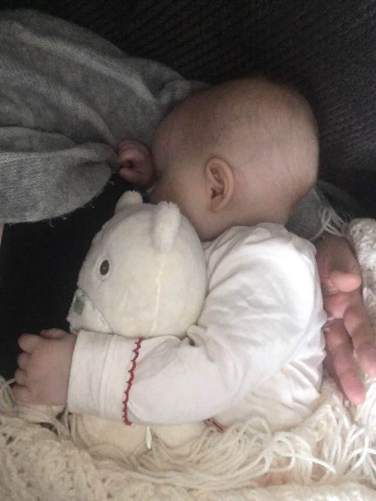 Isabelle breastfeeding. Something shown to reduce the rates of colic