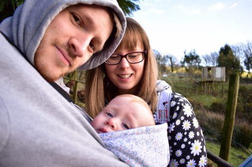 Just a quick selfie of the three of us at Exmoor Zoo