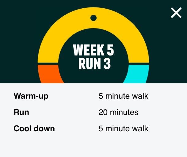 Couch to 5K week 5 run 3 - a 20 minute run!
