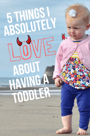 5 Things I Absolutely LOVE about having a toddler- a post all about the things I sarcastically love about having a toddler