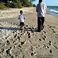 Leaving Footprints in the Sand with my Friend
