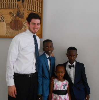 My siblings and I clean up well. Here we are before going to our Uncle's wedding.