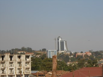 This is a (BAD) photo of Kampala, Uganda's capital city. It is much bigger and more crowded than Kigali but had many similarities too.