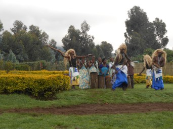 Before our climb up the volcano we were graced with a Traditional Rwandan dance at the National Park.