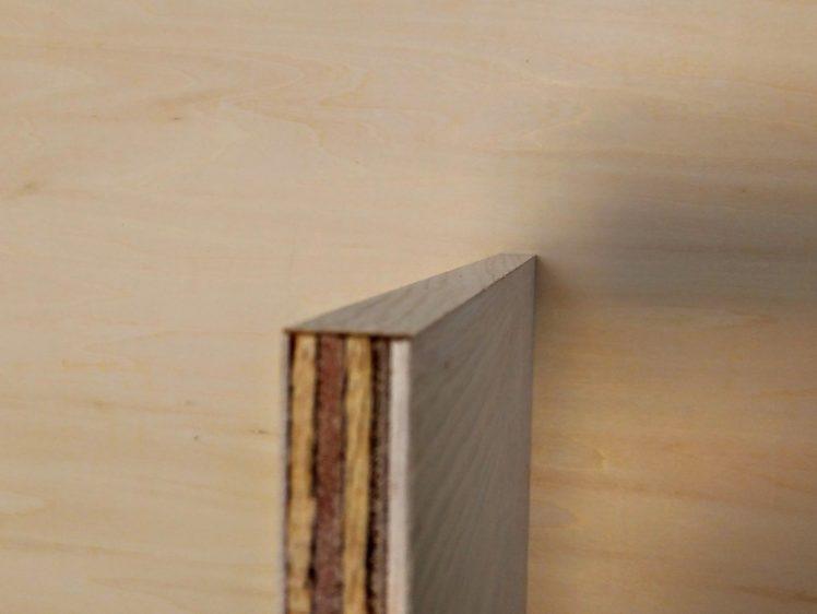 余分な木口テープのカット完了