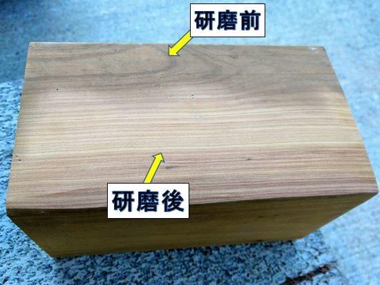 木材の研磨