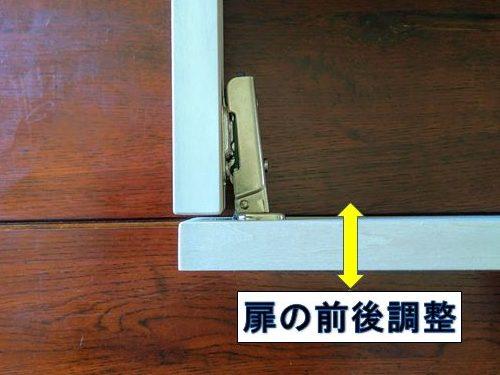 扉の前後調整