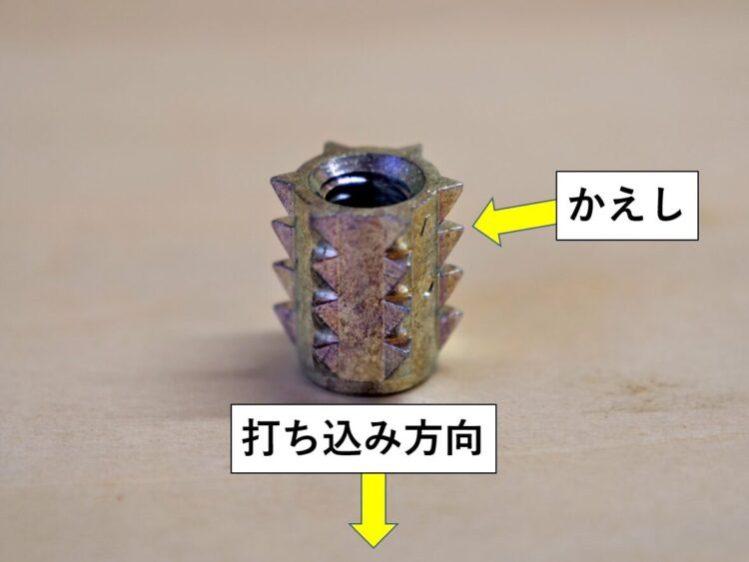 打ち込みタイプ・かえし構造