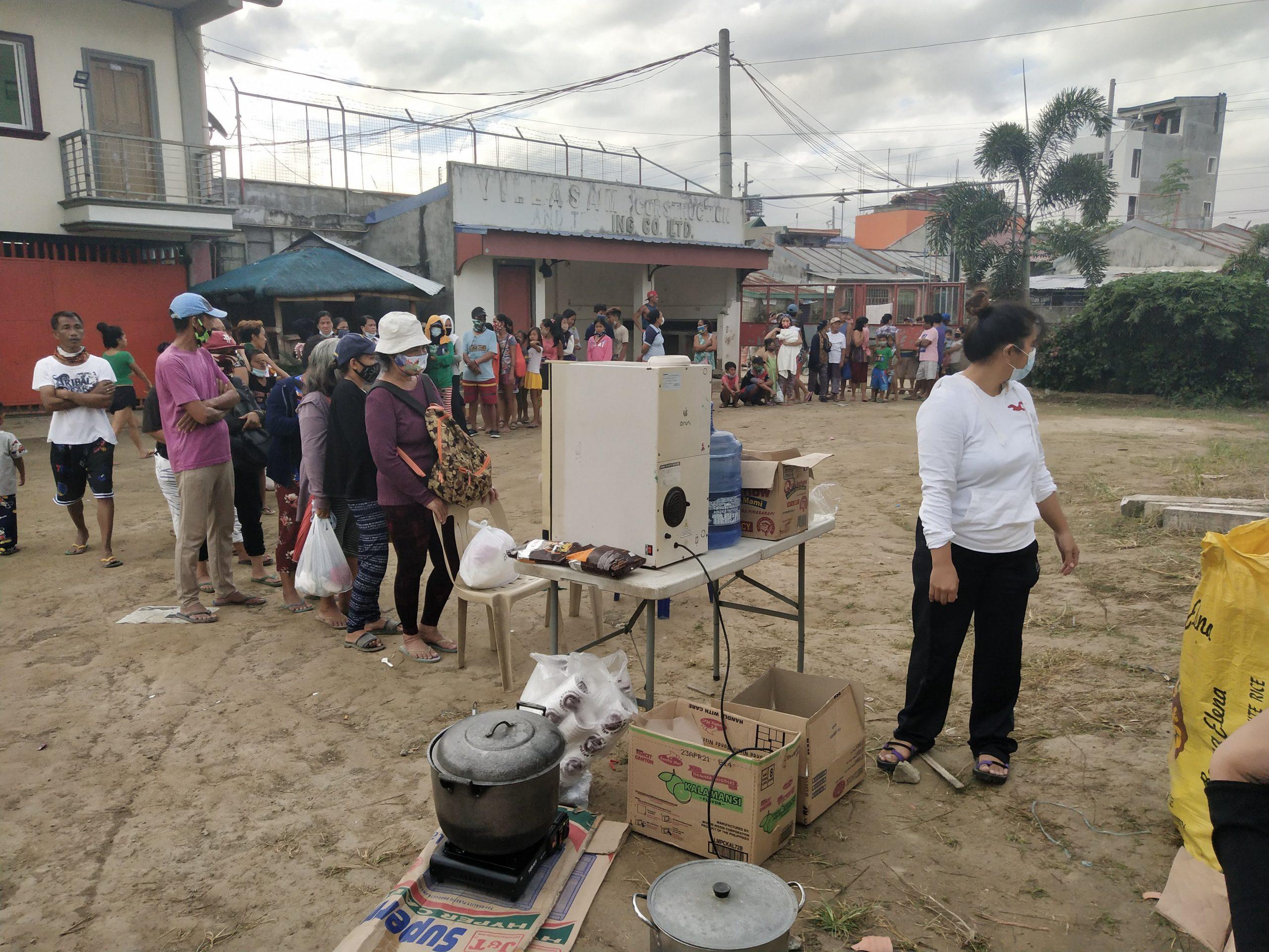 Distribution of porridge