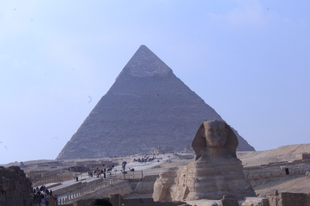 The Great Pyramids with Sphinx, the beautiful panoramic view