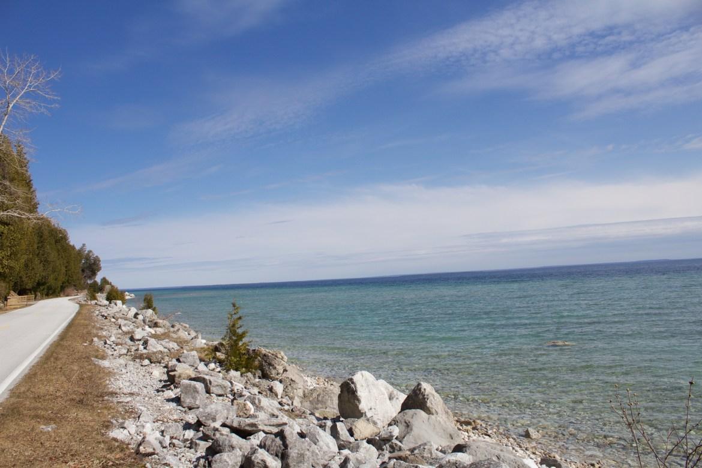 Mackinac Island got a beautiful coastline