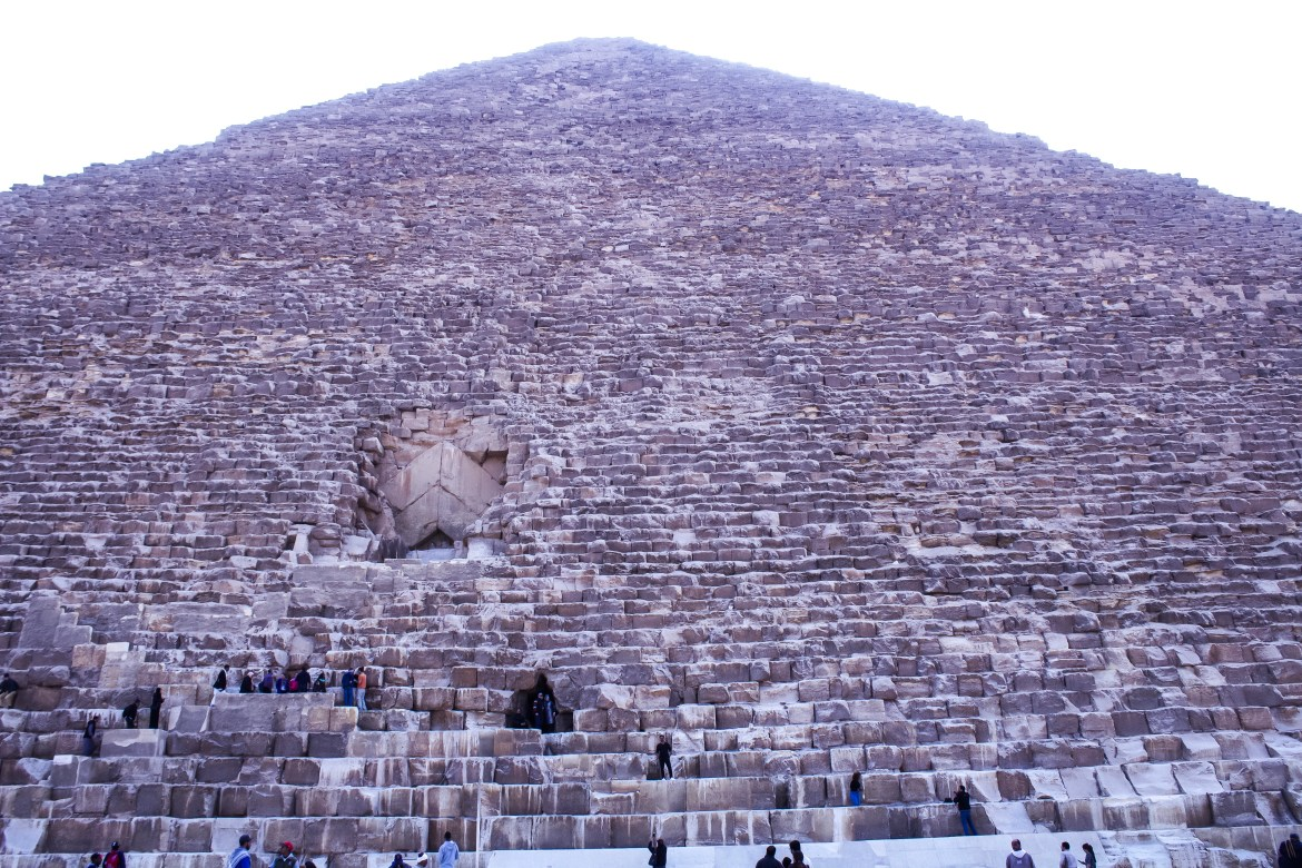 Front view of the Great Pyramids